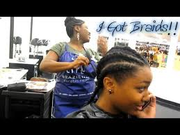 lace front box braids in memphis salon experience i got braids watch me get braided start to