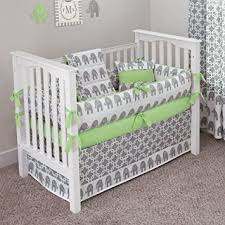 Crib Bedding Green Custom Boutique Baby Bedding Ele Green 5 Pc Crib