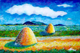 Impressionist Landscape Painting by Impressionist Landscape With Ufo Painting By Ion Vincent Danu