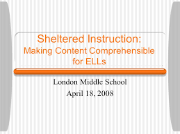 Be Like Bill The Comprehensible - sheltered instruction making content comprehensible for ells london
