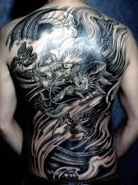 tattoo dragon full back black ink dragon tattoo on man full back