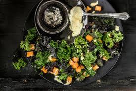 cuisiner le chou frisé salade tiède de patates douces et de chou frisé non pommé recette