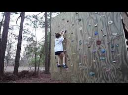 5 year old double dyno on a backyard climbing wall youtube