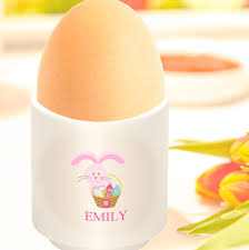 bunny egg cup personalised easter bunny egg cup for