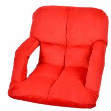 lazy sofa with armrest 102cmx58x13cm beanbag folding chair bed