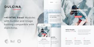 dulcina responsive email template builder by maileden
