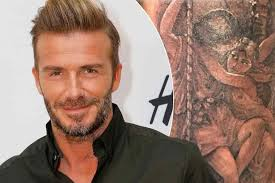 david beckham shows sore as he gets touched