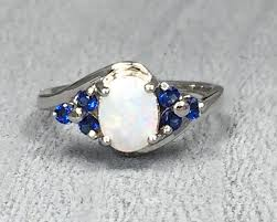 white fire rings images White fire opal stone blue sapphire cz 925 sterling silver curved jpg