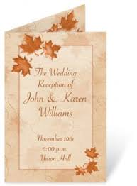 fall wedding programs 5 fall wedding flower ideas paperdirect