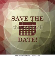 save the date website save date icon blue website button stock illustration 606790586