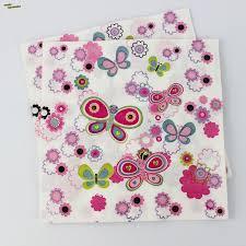 2017 wholesale paper tissue paper napkin butterfly smile