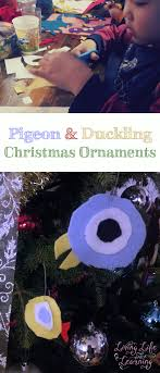 mo willems pigeon and duckling ornaments