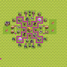 coc map layout th6 best trophy defense base layouts for clash of clans th 6 town