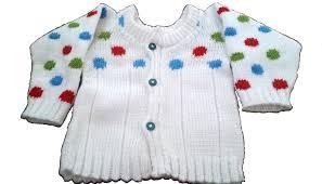 baby sweater polka dots knitting pattern