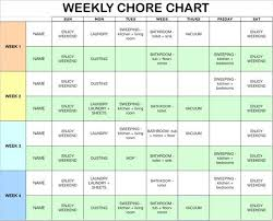 Chore Sheet Template Best 25 Weekly Chore Charts Ideas On Weekly Chore