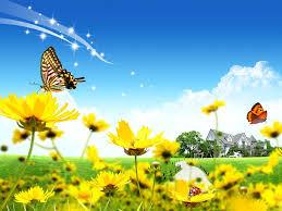 fantasy spring flower butterfly wallpaper spring pinterest