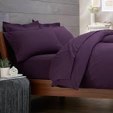 bedroom bedroom comforter ideas with plain plum purple duvet