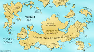 Wold Map The Great Linux World Map