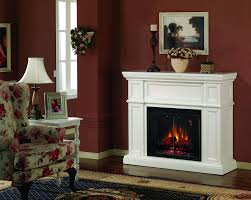 lavish white electric fireplace with high economical advantages to