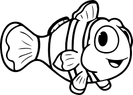 cartoon fish cute coloring page sheet wecoloringpage