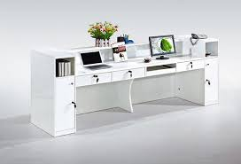 Office Front Desk High End Office Furniture White Cheap Small Modern Office Front