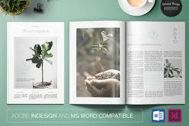 floral magazine magazine templates creative market
