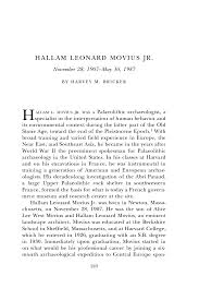 Example Of A Memoir Essay Hallam Leonard Movius Jr Biographical Memoirs V 89 The