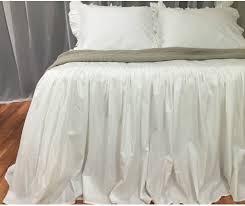 Ruffled Comforter Bedspread Ruffled Bed Cover Custom Made From Long Staple Pima