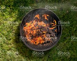 Backyard Bbq Grill by Charcoal Bbq In The Backyard On Grass Stock Photo 598082946 Istock