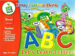 Leapfrog Phonics Desk Lets Learn Letters Imagination Desk Interactive Colorandlearn Book