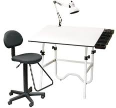 Cad Drafting Table Adjustable Work Stool With Wheels Draftsman Furniture Cad Drafting