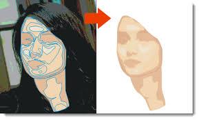 tutorial vektor dengan corel menggambar wajah menjadi kartun belajar coreldraw