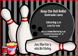 bowling party invitations templates ideas bowling party