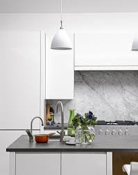 Kitchen Tiled Splashback Ideas White Kitchens With The Wow Factor The Room Edit