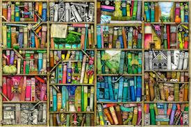 fantasy bookshelf wall mural photo wallpaper photowall