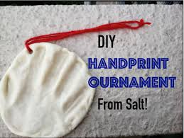 diy handprint ornament made from salt dough i only 3 materials