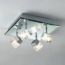 Ceiling Light Fixtures For Bathrooms Modern Lighting Ceiling Polished Chrome Finish Bathroom Ceiling