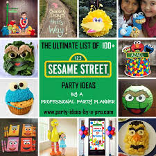 sesame birthday 100 sesame birthday party ideas by a professional party