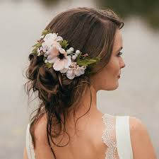 flowers for hair collections of bridal bridesmaid wedding flower side back