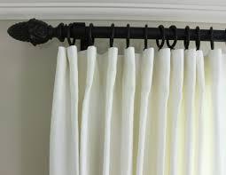 Linen Drapes Custom Linen Drapes And Ottomans In Kelly Wearstler Katana Ivory Ebony