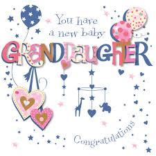 congrats on new card new baby granddaughter congratulations greeting card cards
