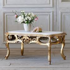 Vintage Coffee Tables by French Country Style Eloquence Vintage Coffee Table With Marble