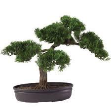 16 realistic indoor outdoor artificial silk cedar bonsai