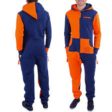 blue jumpsuit mens mens syracuse orange navy blue zooop zip fleece jumpsuit