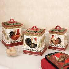 tuscan rooster kitchen canister set canister sets kitchen