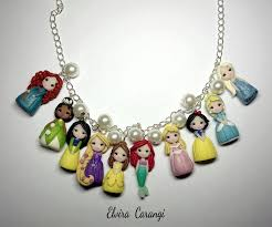 princess necklace images Disney princess necklace handmade with polymer cla by elvira jpg