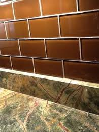 Brown Glass Tile Backsplash by Cinnamon Brown 3x6 Subway Tiles By Msi Stone Coordinate With
