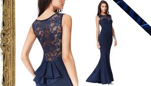 goddiva dresses lace back maxi dress with frill detail navy goddiva shop uk