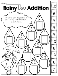 addition worksheet cut and paste addition worksheets for