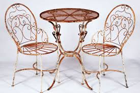 Wrought Iron Bistro Table Wrought Iron Bistro Table 2 Chairs Set